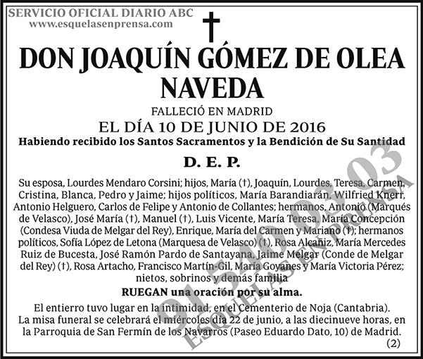 Joaquín Gómez de Olea Naveda